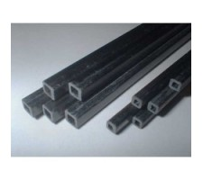 image: Tub patrat de carbon 8x7 mm, L 1m