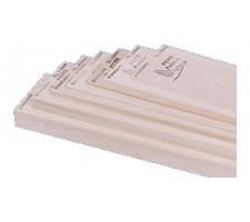 image: Placa din lemn Balsa usor, 1070 x 100 x 2.5 mm