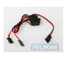 image: Intrerupator cu cabluri si conectori Futaba, cu mufa de incarcar