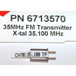 Cristal Hitec Tx 35 MHz