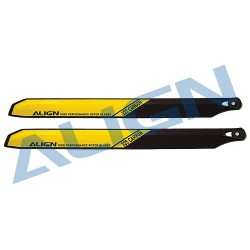 T-Rex450 Carbon Rotor Blade 325 mm - Yellow HS1162