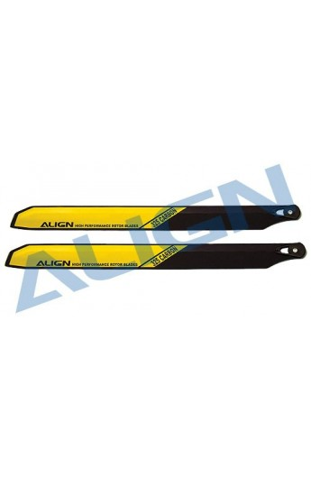image: T-Rex450 Carbon Rotor Blade 325 mm - Yellow HS1162