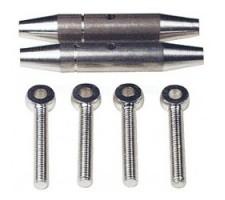 Cuplaj intindere Al M2.5/30 mm (2)