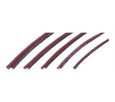 image: Cablu cupru litat 1.5 mmp, izolator siliconic R&B 50+50 cm