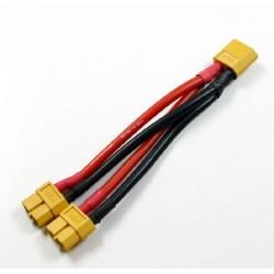 Cablu conversie XT-60 paralel 1 x tata - 2 x mama