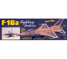 image: Aeromodel F-16A Fighting falcon, macheta statica 1:30 balsa