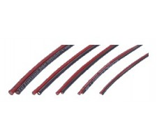 image: Cablu cupru litat 0.5 mmp, izolator siliconic R&B 50+50 cm